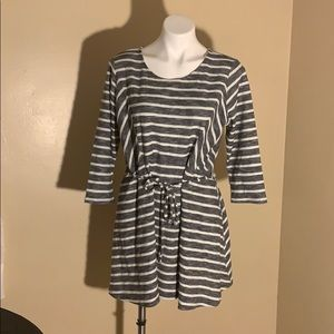 LED Gray and White striped dress.
